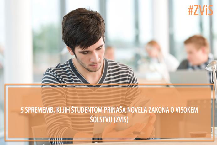 5 sprememb, ki jih študentom prinaša novela Zakona o visokem šolstvu (ZViS)
