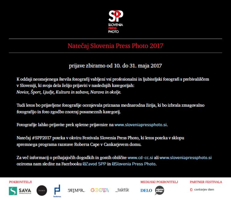 SLOVENIA PRESS PHOTO 2017: odprte prijave na natečaj  dokumentarne in novinarske fotografije